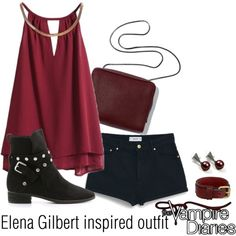 Elena Gilbert inspired outfit/TVD by tvdsarahmichele