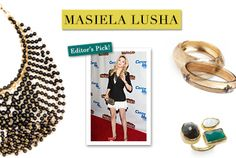 From glistening gems and glamorous layers to subtle simplicity and delicate gold twists, these luxe, classic accessories are inspired by Masiela at the premiere of the L.A. musical, Catch Me If You Can.