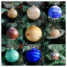 This year I'll have a space themed Christmas and these solar system ornaments will be just perfect.