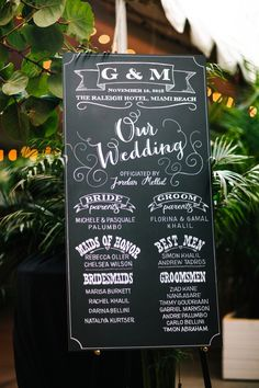 Awesome hand lettered chalkboard wedding sign instead of ceremony programs! Photo by @studio1208 via Bridal Musings