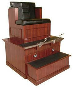 The Bradford Shoe Shine Stand by Collins is made in the USA, offering superior quality that is unmatched in the salon equipment industry. This shoe shine stand is sure to make any guest feel like true royalty, and features a fully padded seat and Cheap Salon Chairs, Salon Chairs For Sale, Cheap Chairs, Cool Chairs, Wholesale Salon Equipment, Barber Chair For Sale, Mushroom Chair, Barber Equipment, Shoe Shine Box