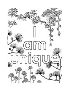 I Am Confident, Self-Affirmation, Adult Coloring Page