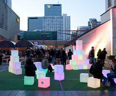 art installiotions | Pixels, interactive art installation | materialicious