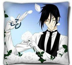 Double-Sided Black Butler Pillow/cushion, Sebastian Michaelis pillow by Victoria's Deco. $24.99. This is a very creative gift for Black Butler fans.