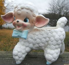 Check out Napco Lamb Sheep Blue Eyes Bow Ceramic Planter K5141 Japan Vintage 1950s   http://www.ebay.com/itm/Napco-Lamb-Sheep-Blue-Eyes-Bow-Ceramic-Planter-K5141-Japan-Vintage-1950s-/151868542613?roken=cUgayN&soutkn=qxcMhZ via @eBay