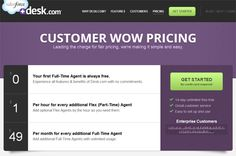 Pricing table example: Desk.com