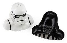 Star Wars Salt and Pepper Shaker's  http://www.wicked-gadgets.com/star-wars-salt-and-pepper-shakers/  #star #wars #gadgets