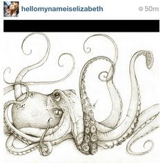 #Octopus #Tattoo #Idea - (as seen on #Instagram: @hellomynameiselizabeth)