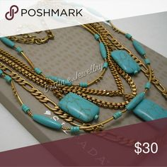 """NEW Designer SILPADA """"Toes in the Sand"""" Necklace (KRB0044) From the KR Collection, this fun bib necklace is made of reconstituted turquoise and brass. It measures an adjustable 18-20"""". Box used for display/photos only (sorry!). Silpada Jewelry Necklaces"""