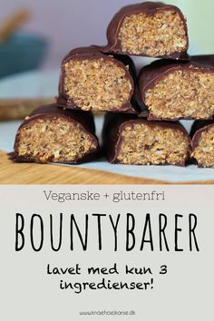 Vegansk og glutenfri gave med kun 3 ingredienser! Healthy Candy, Healthy Sweets, Healthy Snacks, Low Carb Köstlichkeiten, Low Carb Protein, Gluten Free Cakes, Recipes From Heaven, Vegan Treats, 21 Day Fix