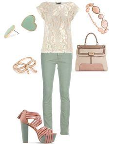 Peachy Green, created by emilyisenberg on Polyvore
