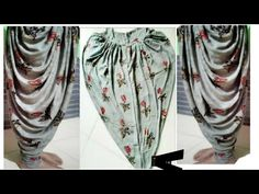 Dhoti salwar ki cutting and stitching very Easy Girls Dresses Sewing, Frocks For Girls, Dress Sewing Patterns, Kids Frocks, Pattern Sewing, Pattern Drafting, Pants Pattern, Kids Blouse Designs, Dress Neck Designs