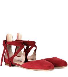 mytheresa.com - Ballerinas Pina aus Veloursleder - Gianvito Rossi - Designer - Luxury Fashion for Women / Designer clothing, shoes, bags
