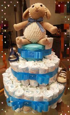 Bolo de fralda Children, Cake, Nappy Cake, Diapers, Pie Cake, Boys, Kids, Cakes, Big Kids