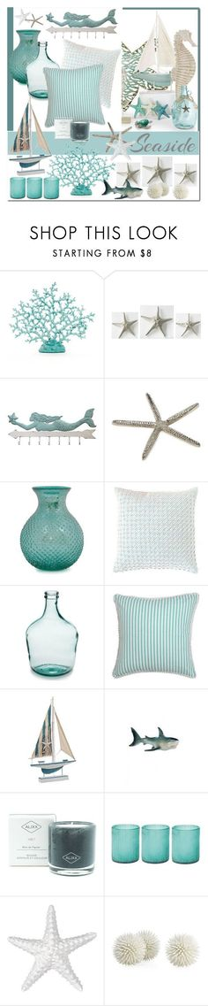 """Beach House Decor"" by brendariley-1 ? liked on Polyvore featuring interior, interiors, interior design, home, home decor, interior decorating, Dot & Bo, Pine Cone Hill, ALIXX and Jamie Young (Cool Bedrooms Stuff)"