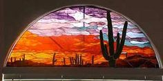 Sunset by Ruby Johnson of Las Vegas, NV - Warner Stained Glass - Online Gallery