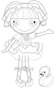 lalaloopsy...we could do coloring books (colored folder) and crayons for party favors!