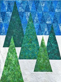 "Evergreen By Van Buskirk, Christine  - 54in x 70in. Uses Creative Grids CGRSG1. Project Time: 6 hour+. Fabric Type: Yardage Friendly. Project Type: Quilt. CLP patterns are printed on 8-1/2"" x 11"", anti-copy card stock. Because they are customized with your shop's Bill-to account name, phone number and web site, they are not returnable."
