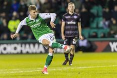 Hibernian 2 Motherwell 1 in Jan 2018 at Easter Road. Florian Kamberi scores on his debut to make it 1-0 after 28 minutes #ScotPrem