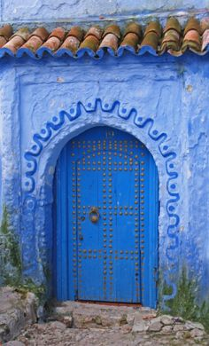 #Doors from around the world inspiration for your #renovation project - Chefchaouen, Morocco door http://www.myrenovationstore.com Please Repin - Thank You:)