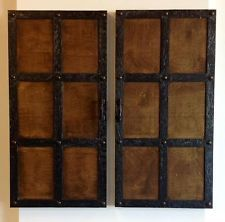 Dungeon Doors, Wall decor, Medieval, Steampunk, Rustic, Gothic decor, Faux door
