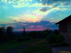 Sunset in the near of Volterra