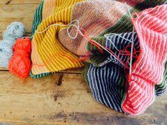 Håndarbeiden » Favoritt-strikketeppet mitt, strikking, teppe, blanket, yarn, strikking, knitting, DIY,