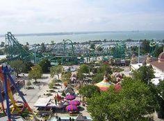 Largest Amusement Park ever in the world. Cedar Point Amusement Park.