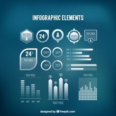 infographic element set Free Vector