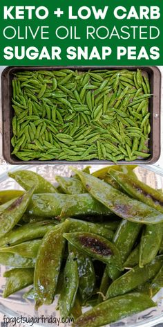 These are so addicting and so healthy! Olive Oil Roasted Sugar Snap Peas might just be the best way to eat vegetables. They are an awesome keto vegetable recipe and low carb vegetable recipe -- serve Vegetable Snacks, Healthy Vegetable Recipes, Pea Recipes, Healthy Snacks Vegetables, Low Carb Vegetarian Recipes, Healthy Low Carb Recipes, Vegetarian Meal, Lunch Recipes, Dinner Recipes