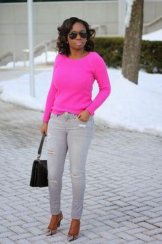 Prissysavvy: Casual Friday: Pink and Gray
