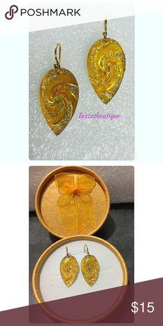 """Beautiful Sun Drop Earrings Beautiful lightweight earrings, yellow/gold in color 1"""" 14k gold plated. Hypoallergenic. Tazzesboutique Jewelry Earrings"""