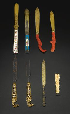 A group of seven knives and forks, various origins and dates | Lot | Sotheby's