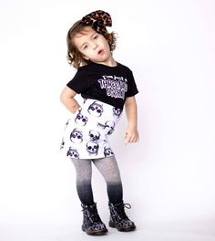 Grunge Skulls Pencil Skirt Girl Toddler Baby Rock and Roll Birthday Outfit Rockabilly Halloween Cool Kids Clothes Goth Punk Concert Outfit Grunge Pencil Skirt Girl Toddler Baby Rock and Roll Birthday Outfit Rockabilly Grey Crushed Velvet S Toddler Girl Style, Toddler Girl Outfits, Kids Outfits, Toddler Stuff, Baby Girl Fashion, Toddler Fashion, Kids Fashion, Trendy Fashion, Rock And Roll Birthday