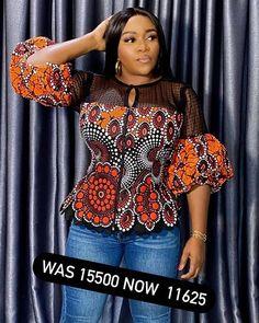 African Blouses, African Tops, Latest African Fashion Dresses, African Dresses For Women, African Attire, Ankara Maxi Dress, Ankara Blouse, Camisoles, Corsage