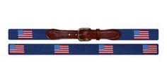 American Flag (Navy) Needlepoint Belt