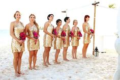 This long formal coral bridesmaid dress is a great style for summer wedding Metallic Bridesmaid Dresses, Beach Wedding Bridesmaid Dresses, Bridesmaid Dress Styles, Bridal Dresses, Beach Wedding Outfit Guest, Beach Wedding Colors, Lace Beach Wedding Dress, Summer Wedding, Dream Wedding