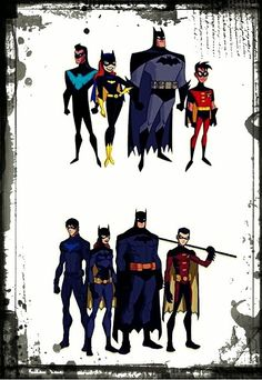 from Batman the Animated Series and Young Justice (okay, now I have to start watching Young Justice)