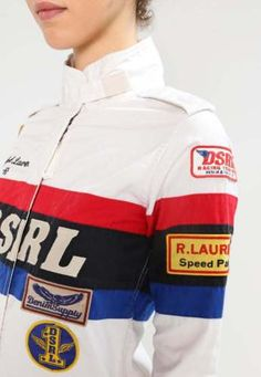 info for b8e60 f697c Denim Supply Ralph Lauren Women Car Racing Motor US Flag Jacket Romper  Jumpsuits
