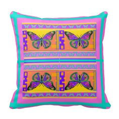 Southwest Monarch Butterfly Pillow by Sharles
