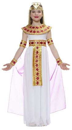 Beautifull Cleopatra Costume Girls Children Kids