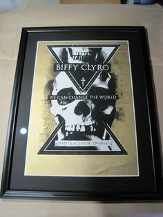 Black frame-poster-Biffy Clyro Biffy Clyro, Change The World, Frame, Poster, Pictures, Black, Decor, Picture Frame, Photos