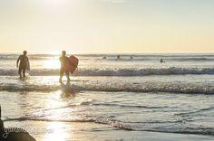surfers at Praia de Matosinhos