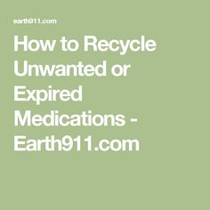How to Recycle Unwan