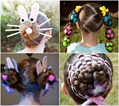 Girls Easter hairstyles