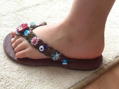 MELISSA Kids :Children Leather Sandals Beaded Woven Leather