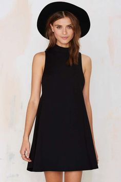 Nasty Gal White Lie Dress - Black - Day | Going Out | Shift | LBD | Dresses | Basic