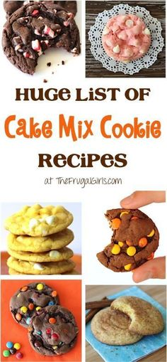 Personalized Graduation Gifts - Ideas To Pick Low Cost Graduation Offers Huge List Of Cake Mix Cookie Recipes From You'll Love This List Of Every Flavor Combination Of Cookies Imaginable - So Easy And Just A Few Ingredients Cake Box Cookies, Chocolate Cake Mix Cookies, Cake Mix Cookie Recipes, Yummy Cookies, Cake Recipes, Dessert Recipes, Rolo Cookies, Cake Batter Cookies, Cupcakes