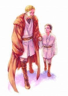 Obi-Wan with young Anakin :)
