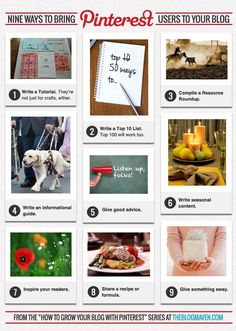 9 Ways to Bring #Pinterest Users to Your #Blog